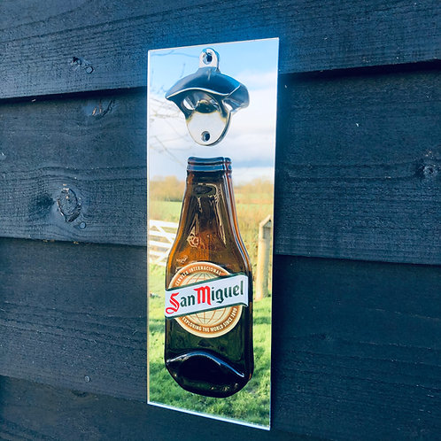 San Miguel Wall Mounted Bottle Opener