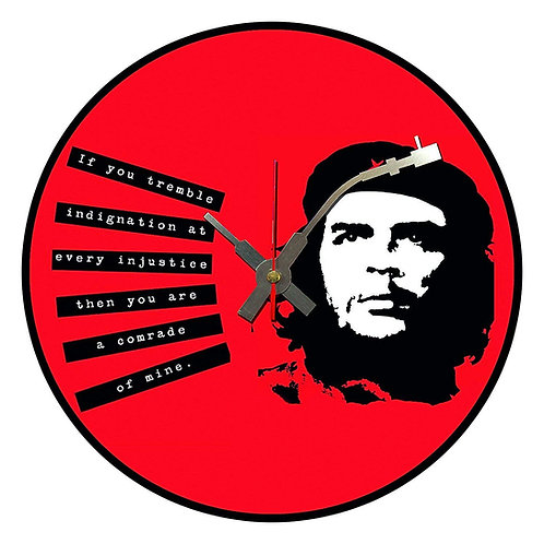 Iconic Che Guevara Guitar Playing  Vinyl Wall Clock
