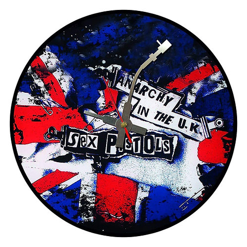 Iconic Sex Pistols Anarchy in UK Vinyl Wall Clock
