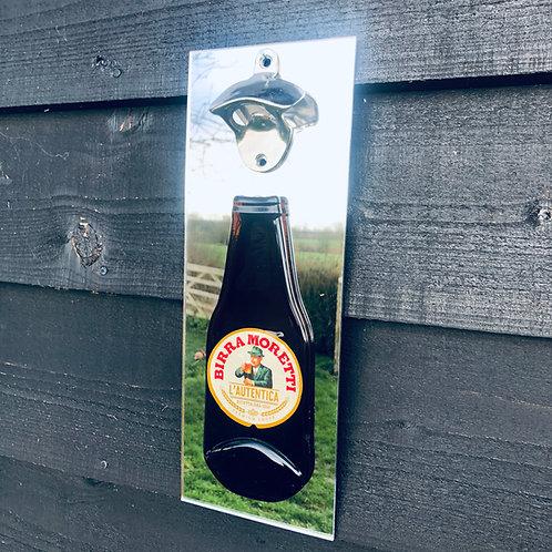 Birra Moretti Wall Mounted Bottle Opener
