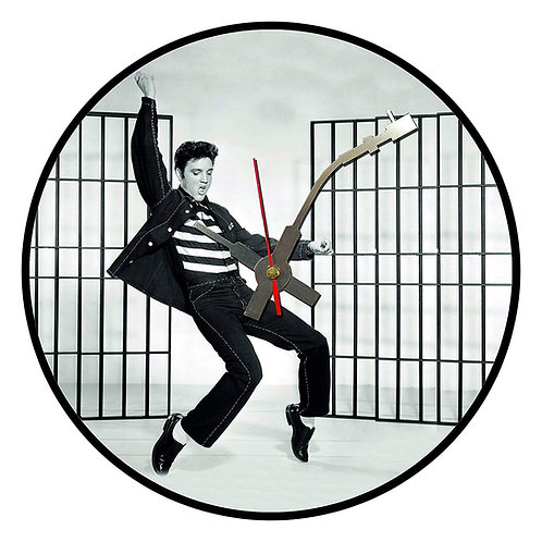 Iconic Elvis Jailhouse Rock Vinyl Wall Clock