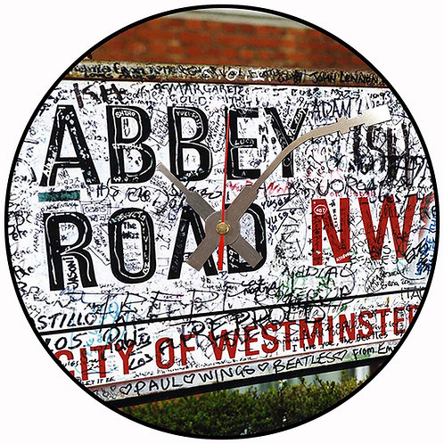 Iconic Abbey Road Beatles  Vinyl Wall Clock