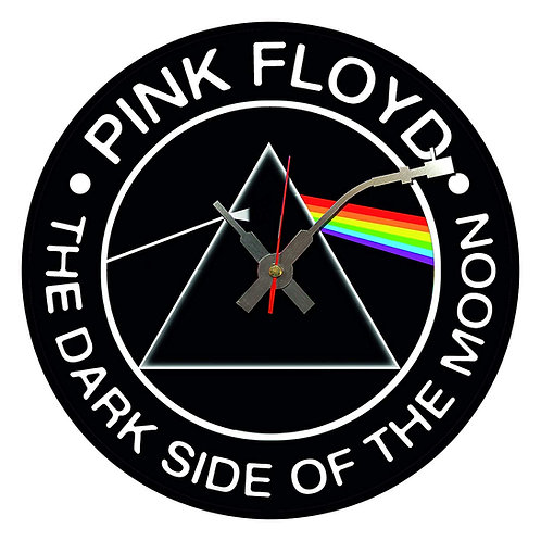 Iconic Pink Floyd Dark Side Of The Moon  Vinyl Wall Clock