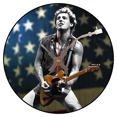 Iconic Bruce Springsteen Vinyl Wall Clock