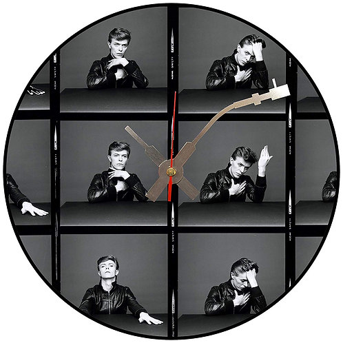 Iconic David Bowie Heroes  Vinyl Wall Clock