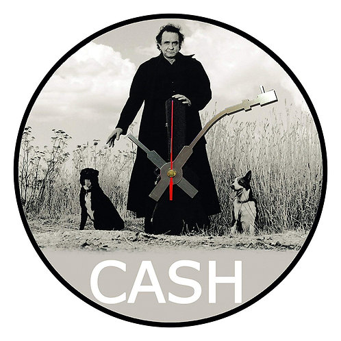Iconic Johnny Cash 2 Dogs  Vinyl Wall Clock