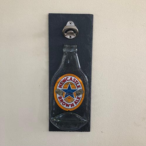 Newcastle Brown Ale Slate Bottle Opener