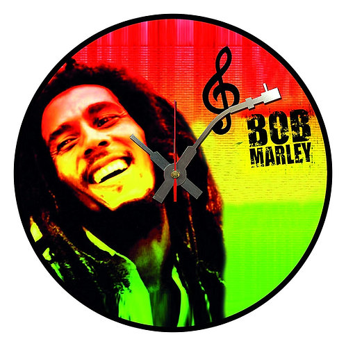 Iconic Bob Marley  Vinyl Wall Clock