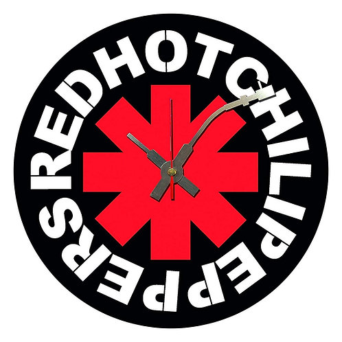 Iconic Red Hot Chilli Peppers  Vinyl Wall Clock