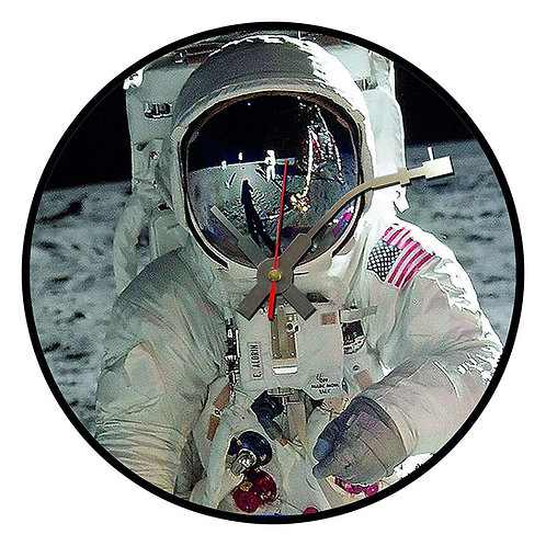 Iconic Man on the Moon Vinyl Wall Clock