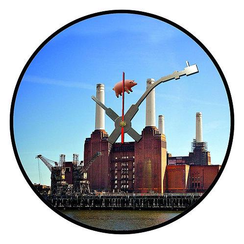 Iconic Pink Floyd Battersea Vinyl Wall Clock
