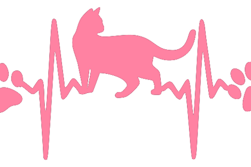 Cat Heart Beat with Paw