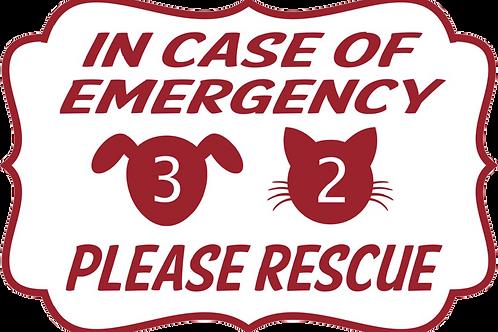 Pet Alert Decal
