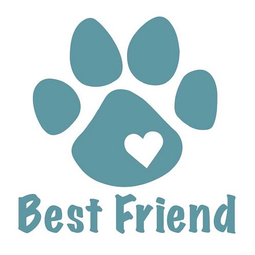 Best Friend Paw Decal