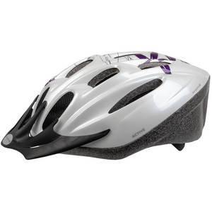 M-Wave Active White Flower Helmet