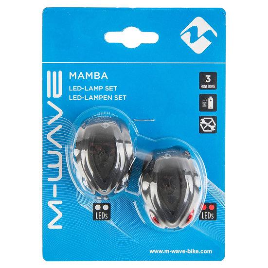 M-WAVE Mamba battery flashing light set