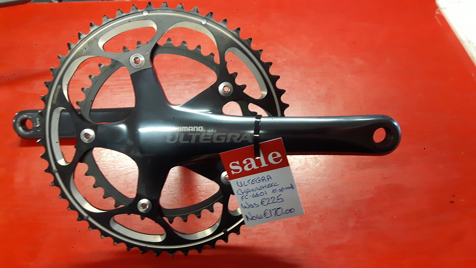 Shimano Ultegra 6601 SL Hollowtech II Chainset-Double 10 speed 53/39