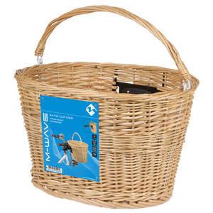 M-Wave BA-FW Clip Stem Handlebar Wicker Basket