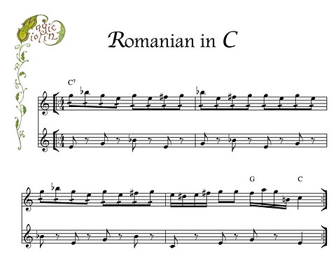 Romanian in C in Bass Clef