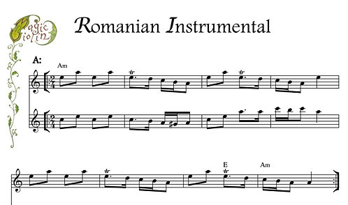 Romanian Instrumental for Eb Instruments