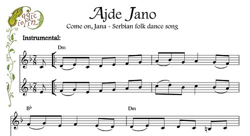 Ajde Jano in Bass Clef