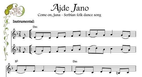 Ajde Jano for Eb Instruments
