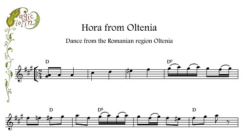Hora from Oltenia in Bass Clef