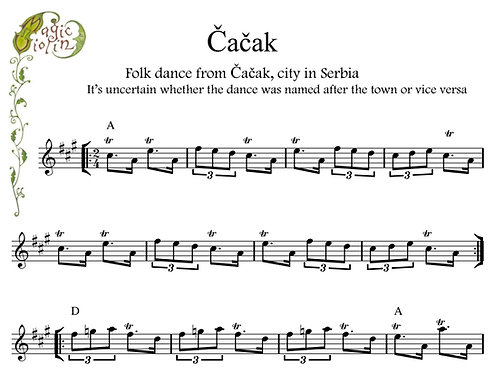Čačak for Eb Instruments