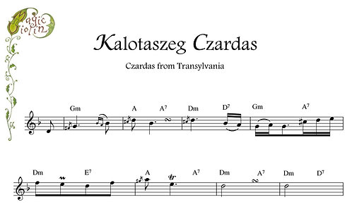 Kalotaszeg Czardas for Bb instruments