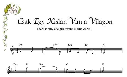Csak Egy Kislán Van a Világon for Eb instruments