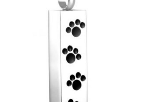 Four Paw Prints - Cremation Urn Pendant with Chain