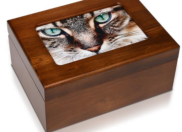 Wooden Photo Memory Urn Box