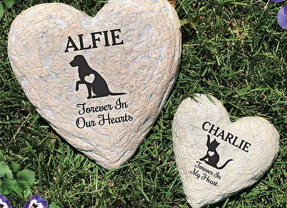 Heart Memorial Garden Stone