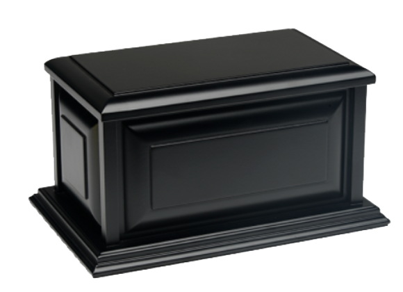 Black Colonial Wooden Urn