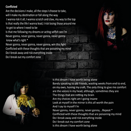 STD MINDCELL EP BOOKLET CONFLICTED PAGE