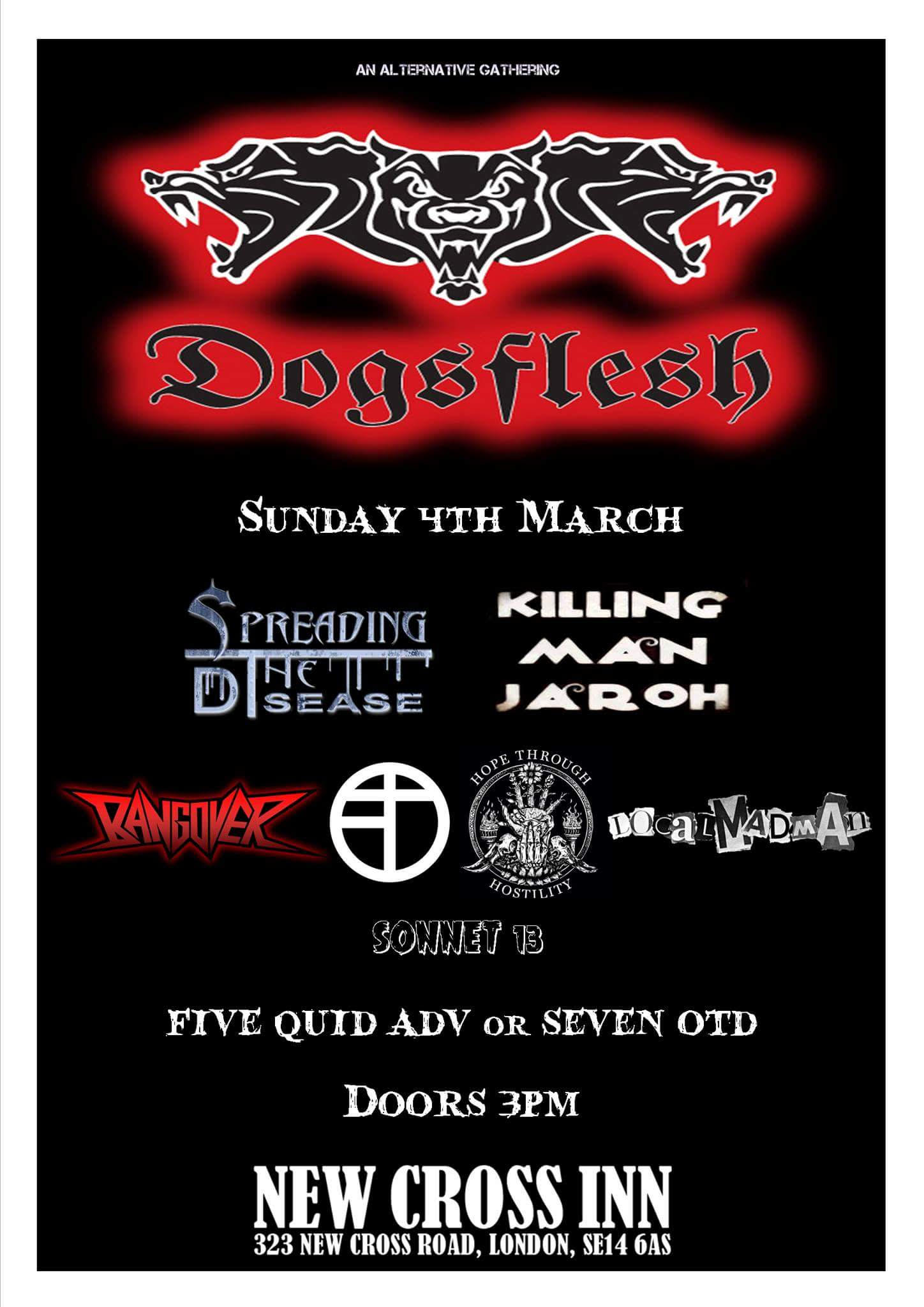 dogflesh STD Poster new cross inn 2018