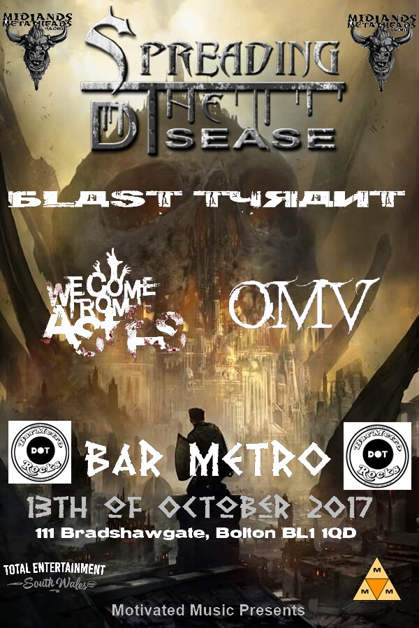 STD Poster Bar metro Bolton oct 2017