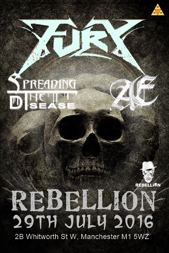 Poster Fury STD Rebellion 2016