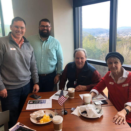 A huge thanks to Sam Burns - Chair of Rabun County GOP, Kim Gurtler, Ed Henderson and Betsy Young - Chair of Towns County GOP. Also, always enjoy spending time with my friend David McDonald from Doug Collins' office. Thank you Rabun County GOP for your hospitality.