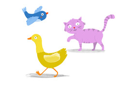 Pappbuch Katze Vogel Ente