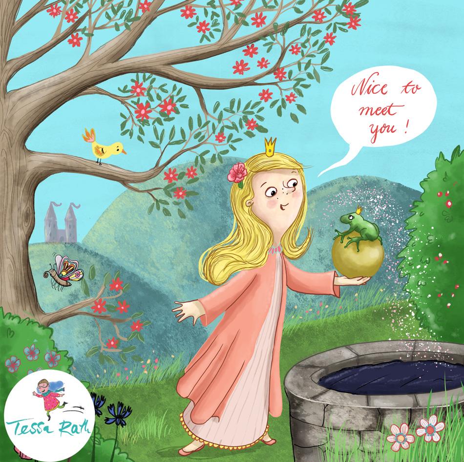 Froschkönig- Kinderbuchillustration
