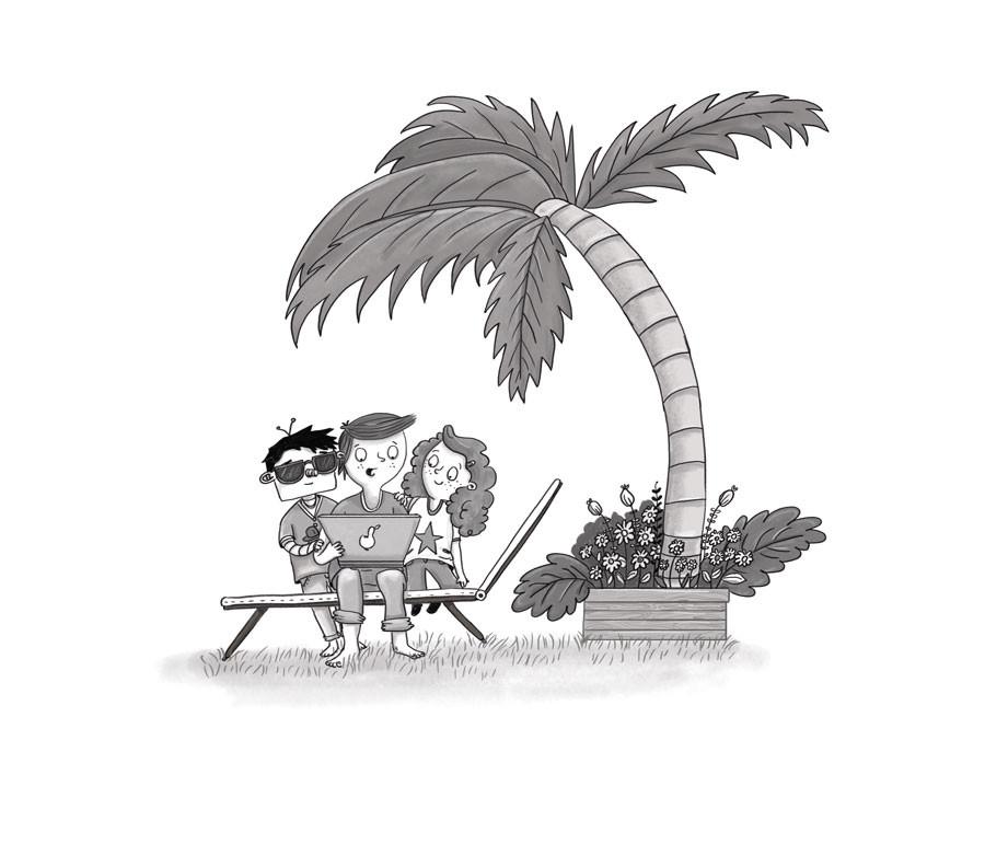 Kinderbuchillustration-FBI_Team_Unter_Pa