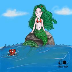mermaid Kinderbuchillustration