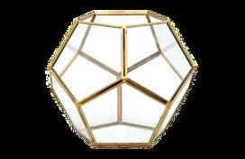 Gold hex vase for rental
