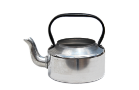 Metal tea pots for rental