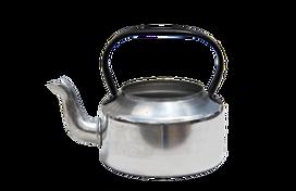 Metal tea pots for rental