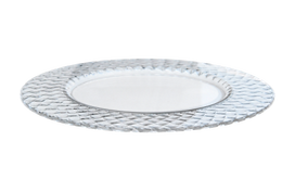 Round glass plate for rental