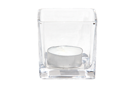Small Square votives for furniture rental