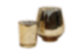 Small gold speckled vases for furniture rental