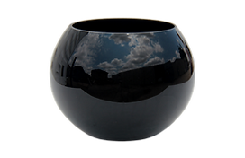Black round vase for rent